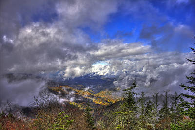 Up Among The Clouds Blue Ridge Parkway Waterrock Knob Poster by Reid Callaway