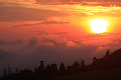 Blue Ridge Sunrise Great Balsam Mountains Poster