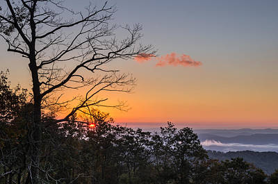 Poster featuring the photograph Blue Ridge Sunrise by Gregg Southard