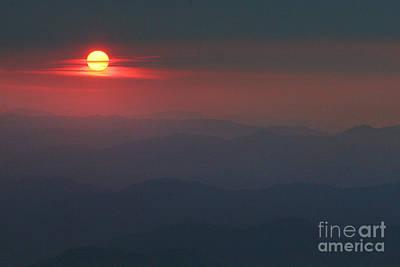 Blue Ridge Sunset 5 Poster by Jonathan Welch