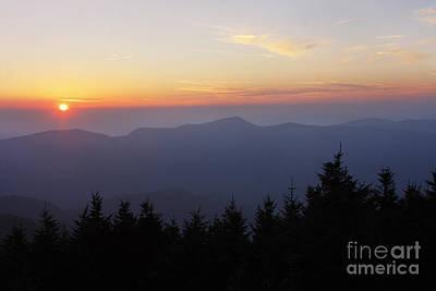 Blue Ridge Sunset 6 Poster by Jonathan Welch
