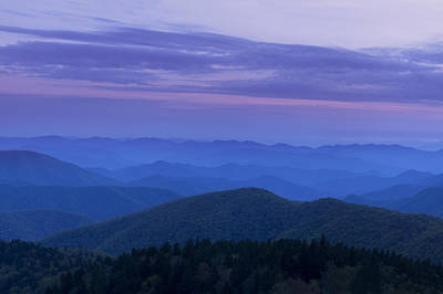 Blue Ridge View Poster by Andrew Soundarajan