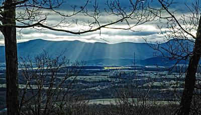 Blue Ridge Winter Solstice 2012 Poster by Lara Ellis
