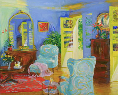 Blue Room, 20078 Oil On Board Poster by William Ireland