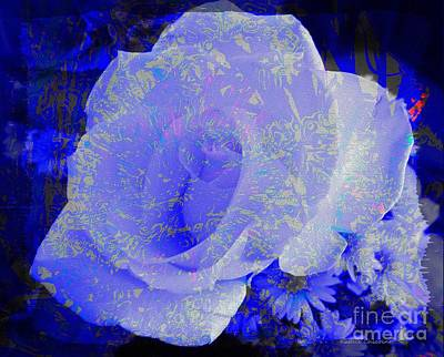 Poster featuring the photograph Blue Rose by Kathie Chicoine