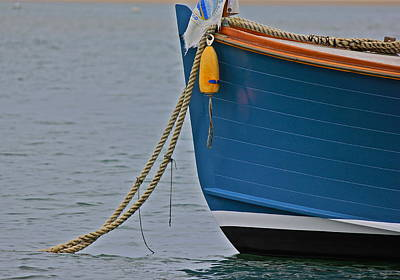Poster featuring the photograph Blue Sailboat by Amazing Jules