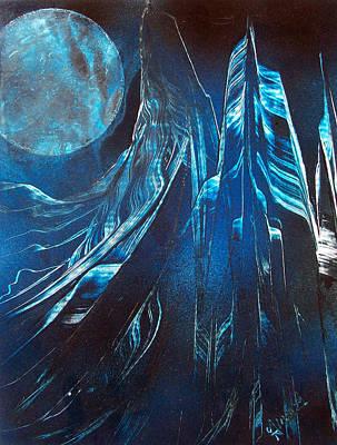 Blue Satin Poster