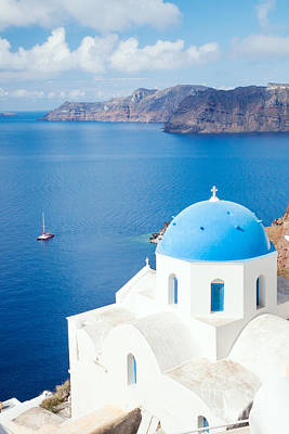 Blue Sea - Santorini - Greece Poster by Matteo Colombo
