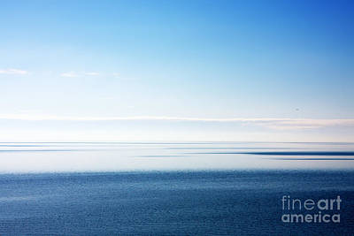 Blue Sea Scene Poster