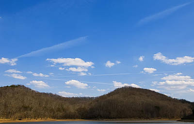 Blue Skies Over The Ohio River Poster by Chris Flees