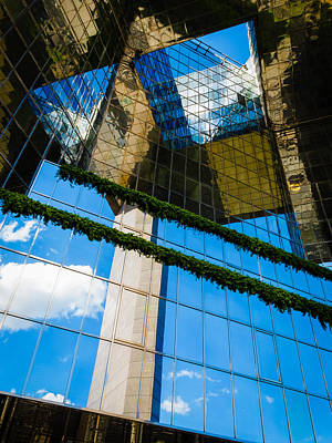 Poster featuring the photograph Blue Sky Reflections On A London Skyscraper by Peta Thames