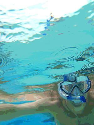 Blue Snorkel Poster