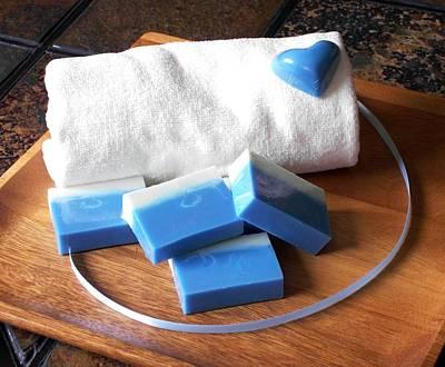 Blue Soap Bar Poster by Anastasiya Malakhova