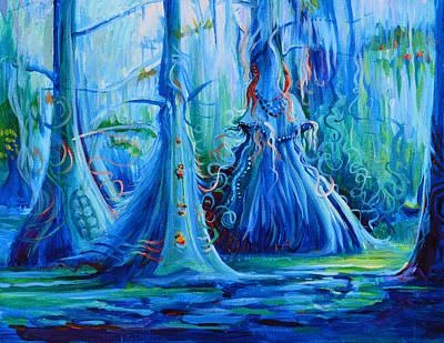 Blue Spirit Trees Poster