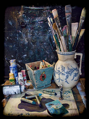 Blue Still Life Poster by Bellesouth Studio