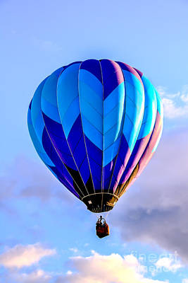 Blue Stripped  Balloon Poster by Robert Bales