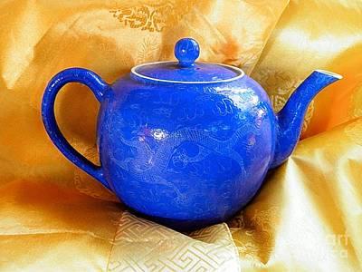 Blue Teapot Poster
