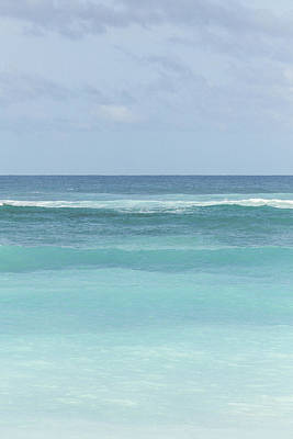 Blue Turquoise Teal Beach Gradient Photo Art Print Poster