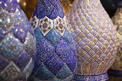 Blue Vases Poster