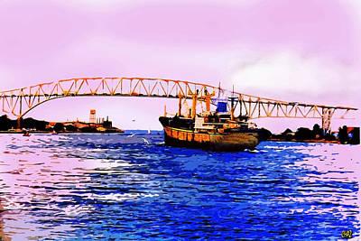 Blue Water Bridge Poster