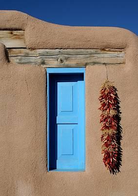 Blue Window Of Taos Poster by Heidi Hermes
