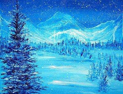 Blue Winter Poster by Ann Marie Bone