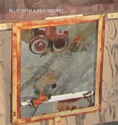 Blue With A Red Secret Poster by Garron Sarvas
