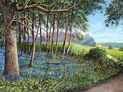 Bluebells Poster by Steve Crisp