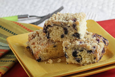 Blueberry Coffeecake Poster by Sarah Christian