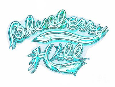 Blueberry Hill Inverted In Neon Blue Poster