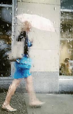 Blueberry Rain Drops Poster