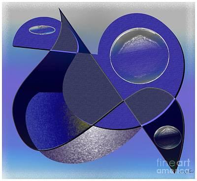 Poster featuring the digital art Bluebird by Iris Gelbart