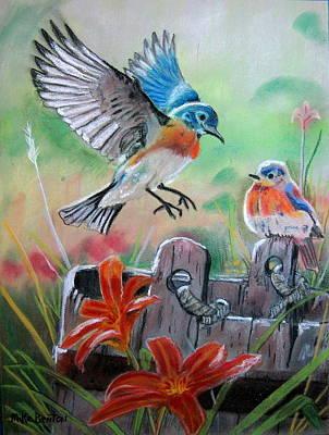 Bluebirds Bucket Poster