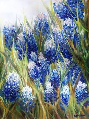 Bluebonnet Barrage  Poster by Patti Gordon