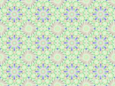 Bluegreen Tiling Wpiia69  Poster