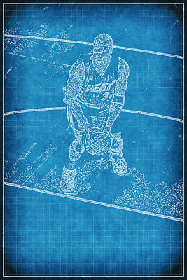 Blueprint Of D Wade Poster by Joe Myeress