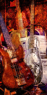 Poster featuring the photograph Blues Guitars by Bob Coates