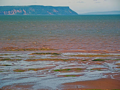 Bluff Over Minas Basin In Afternoon At Fundy Bay Near Grand Pre-ns Poster by Ruth Hager