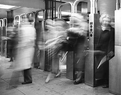 Poster featuring the photograph Blurred In Turnstile by Dave Beckerman