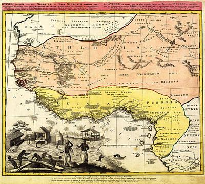 Bm0588 - Map Of Western Africa 1743 Poster by Homann Erben