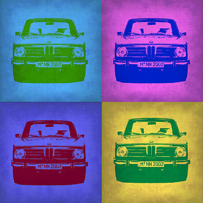 Bmw 2002 Pop Art 3 Poster by Naxart Studio