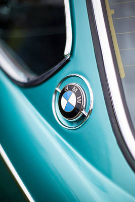 Bmw 3.0 Cs Closeup Curves Poster by Mike Reid