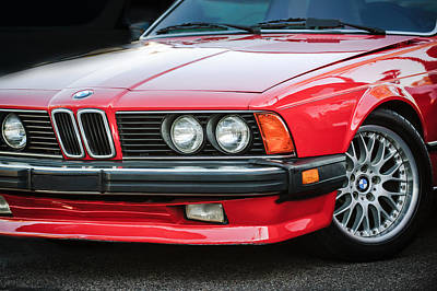Bmw 635csi Grille -1718c Poster by Jill Reger