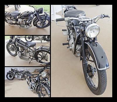 Bmw Art Deco Bikes Poster by Maj Seda