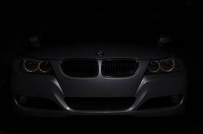 Bmw Car In Black Background Poster