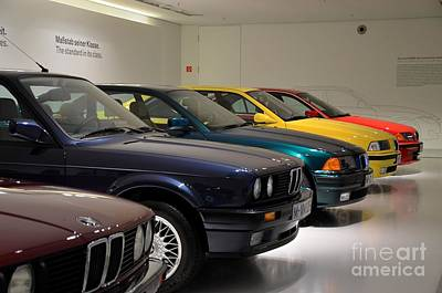 Bmw Cars Through The Years Munich Germany Poster