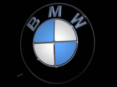 Bmw Emblem Poster by DigiArt Diaries by Vicky B Fuller
