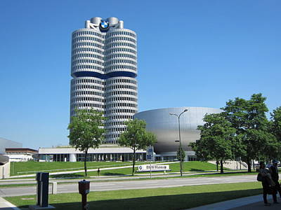 Poster featuring the photograph Bmw Head Quaters by Pema Hou