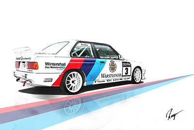 Bmw M3 Poster by Roger Lighterness