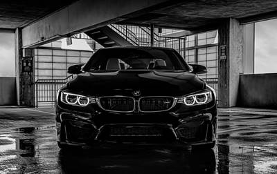 Poster featuring the digital art Bmw M4 by Douglas Pittman